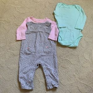 Carter's Baby Girl Overalls Outfit Bundle